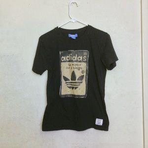 Adidas Originals Black and Gold T-Shirt